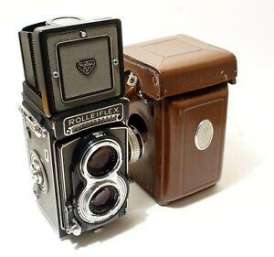 Rolleiflex T Type 1 Grey TLR Camera + Leather Case - Superb Camera - C:1958.