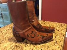 Tony Mora size 40 Womens Cowgirl -Spain-New Only One Time Wear Carved Pointy
