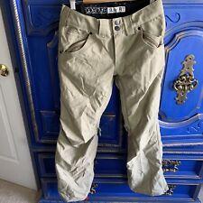 Aperture Slim Fit Snowboard Ski Outdoor Pants Technical Outerwear Khaki Size XXS