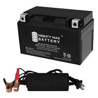 Mighty Max YTX30L-BS Battery for Moto Guzzi 1000cc 1000NT 12V 4Amp Charger