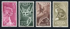 Spanish Sahara: 1960 Native Wild Animals Semipostals (B60-B63) Mint
