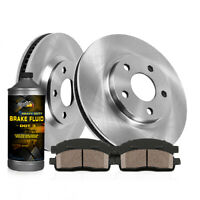 Fits 2007-2010 Kia Optima Front Blank Brake Rotors Ceramic Brake Pads