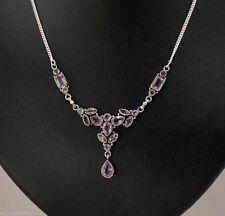 Echte Edelstein-Halsketten & -Anhänger im Collier-Stil mit Amethyst für Damen