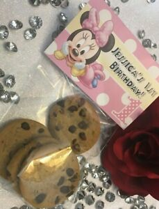 BABY MINNIE MOUSE PARTY FAVORS LOOT FAVOR BAGS FAVORS BIRTHDAY PINK YELLOW WHITE