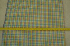 "By-the-Half-Yard, 44"", Plaid Madras Cotton Plisse, Shirting A441"