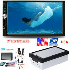 """7"""" Hd 2-Din Car Mp5 Player Bluetooth Touch Screen Stereo Radio w/Rearview Camera"""