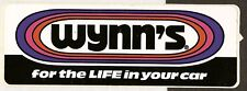 WYNNS OIL FOR THE LIFE IN YOUR CAR ORIGINAL PERIOD STICKER AUTOCOLLANT AUFKLEBER