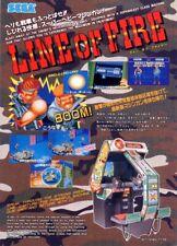 Line Of Fire Arcade Flyer Original Sega 1989 Nos Video Game Japan Promo Artwork