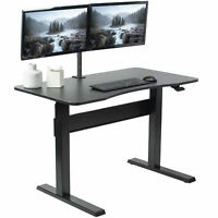 VIVO Black Pneumatic Spring 47 x 27 inch Stand Up Desk, Adjustable Workstation