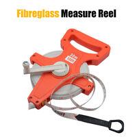 Open Reel Measuring Tape With Bottom Metal Spike Vinyl Fiberglass For Measuring