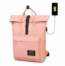 d5874e954565 USB Canvas Bag for Girl Women Shoulder School Backpack Satchel Travel  Rucksack
