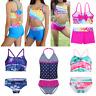 2Pcs Girls Swimwear Tropical Palm Bikini Swimsuit Tankini Bathing Suit Beachwear