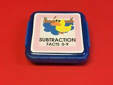 DUCK & POND - Subtraction Facts 0-9 Matching Game 48 Cards with Storage box