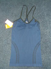 TBOE Sleevless Racerback Santoni Style Stretch Top XL EU50 UK18-20 Navy Mix BNWT