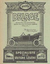 Z8304 Voiturette DELAGE - Pubblicità d'epoca - 1914 Old advertising