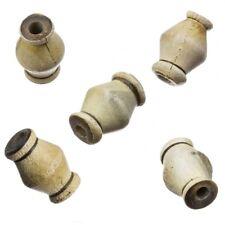 Brown Plain Tribal Dreadlock Bobine biconique Horn Beads 15x10mm Pack de 5 (B41/8)