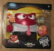 New Disney Store Inside Out Deluxe Talking Anger Doll Lights up
