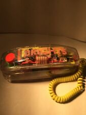 Vintage 80s CONAIR See Through Transparent Clear Neon TELEPHONE PHONE yellow