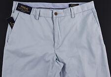 Men's POLO RALPH LAUREN Light Blue Pima Cotton Pants 32x32 NEW NWT Classic Fit