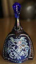 """Beautiful Fenton Hand Painted 7"""" Bell Signed Martha Reynolds 