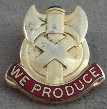 US Army 227th Maintenance Battalion Unit Crest Insignia - Clutchback S-21