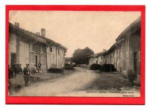 WW1, Postcard, Grand' Rue, Beaulieu, Meuse, France pmk 1914