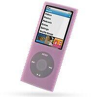 Super Grip Silicone Skin Case for 4th Generation iPod Nano (Pink)