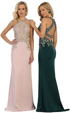 LONG PROM PARTY FORMAL GOWNS DESIGNER RED CARPET SPECIAL OCCASION EVENING DRESS