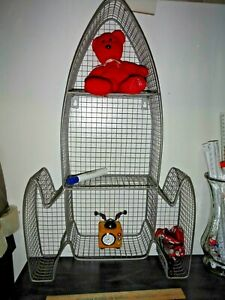 "Large Metal Wire Rocket Shaped Shelf Pillowfort By Target 30""L x 11""H"