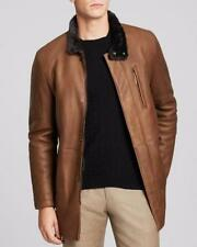 Zip Hip Length Leather ARMANI Coats & Jackets for Men