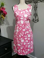 94c3825918e5 Petite Sophisticate Stretch Dress Size 10 Pink And White Floral EASTER  square.