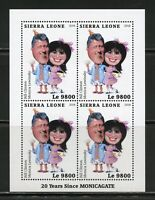 SIERRA LEONE 20 YEARS SINCE MONICAGATE SHEET MINT NEVER HINGED