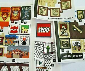 LEGO REPLACEMENT STICKERS - Choose NEW Stranger Things, Harry Potter 75968