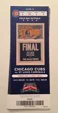 2014 Chicago Cubs Season Ticket Stub May 2, 2014 - Wrigley Field (Rizzo Hr)