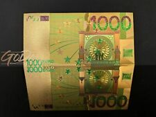 1000 Euro Gold Banknote Sonderedition Geldschein Schein Note  Goldfolie Karat b