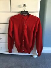 M&S Autograph Christmas Red Cashmere Cardigan Size 8