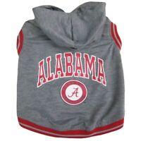 Alabama Crimson Tide NCAA Pets First Dog Pet Hoodie Sweatshirt Gray Sizes XS-L
