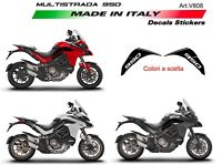 Adesivi per serbatoio Ducati Multistrada 950 DVT Alluminio Spazzolato Opaco