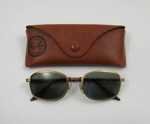 B&L Ray-Ban Vintage W2849 Matte Gold Square Sunglasses