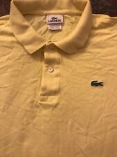 Lacoste Men's Polo Shirt Yellow Size 6. Made in Peru. 100% Cotton. Preowned