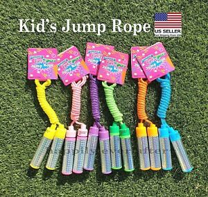 "Kids Jump Rope/ Colorful & Kids Safe Jump Rope 82"" Long, Easy Grip *US SELLER*"