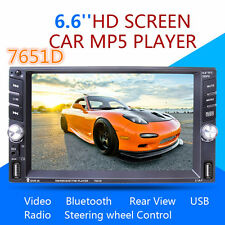 "Car MP5 Media Player+ Rear Camera 6.6"" Touch Screen 2DIN Bluetooth FM 2-USB TF"