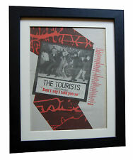 THE TOURISTS+Told You So+POSTER+AD+RARE ORIGINAL 1980+FRAMED+FAST GLOBAL SHIP