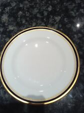 SPODE LUNCHEON PLATE: KNIGHTSBRIDGE COBALT BLUE BAND ON WHITE / GOLD #1 - Y5783