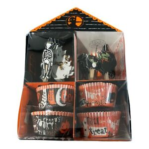 Meri Meri Halloween Party Theme 24 Cupcake Sleeves & Toppers Fun Baking NEW