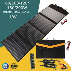 100//150//200W Faltbares Solarpanel Tragbares Solarpanel mit 10A Solarladeregler