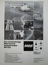 6/1981 PUB MBB BO 105 POLIZEI OFFSHORE NORTH SCOTTISH HELICOPTER GERMAN AD