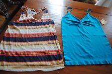 lot 2 size M juniors BDG urban outfitters striped tank & NOBO seamless aqua cami