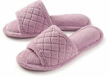 Roxoni Open Toe MicroTerry Spa Slippers for Women, -sizes 6-12  -style #2122