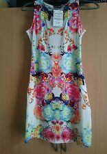 Ladies Floral print summer dress large (UK M)